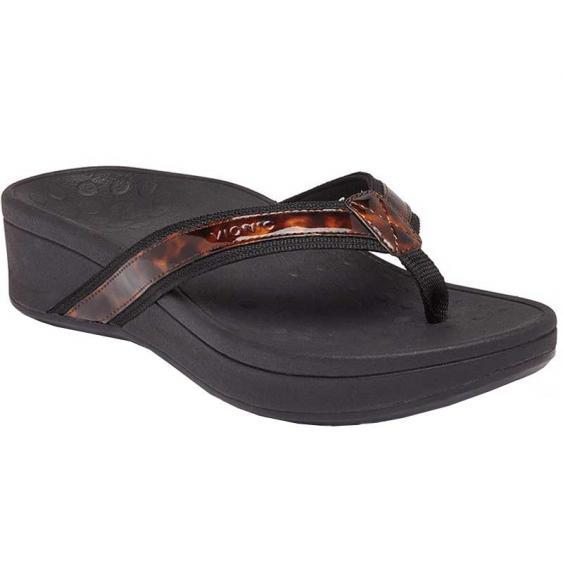 Vionic High Tide Platform Black Tortoise 10010944-BLK (Women's)