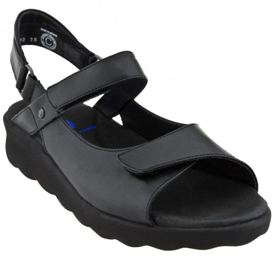 Wolky Pichu Black Smooth Leather 1890-300 (Women's)