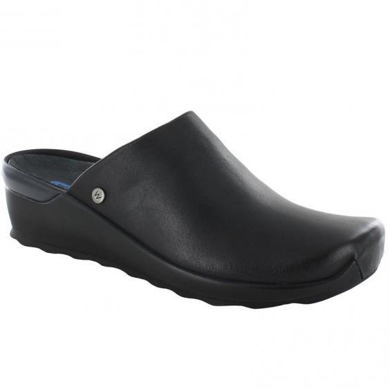 Wolky Go Black Velvet Leather 2575-200 (Women's)