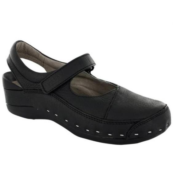 Wolky Strap-Cloggy Black Greased 6015-500 (Women's)