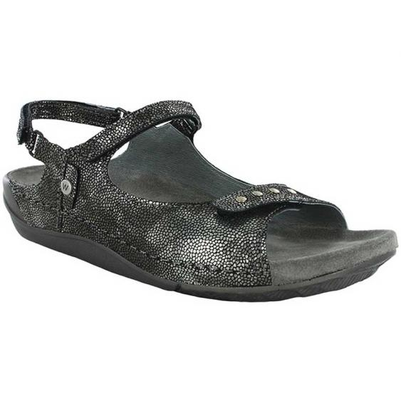 Wolky Cortes Black Caviar Leather 530-600  (Women's)