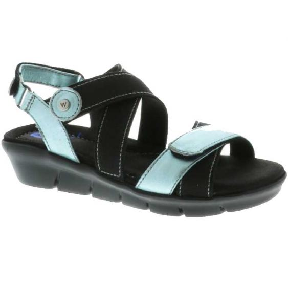 Wolky Electra Ice Blue Biocare Metallic 667-08-850 (Women's)