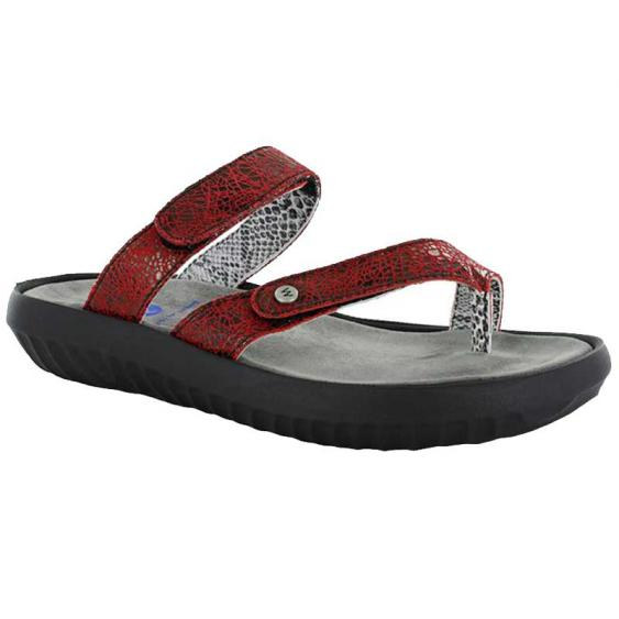 Wolky Bali Red Crash Suede 884-450 (Women's)
